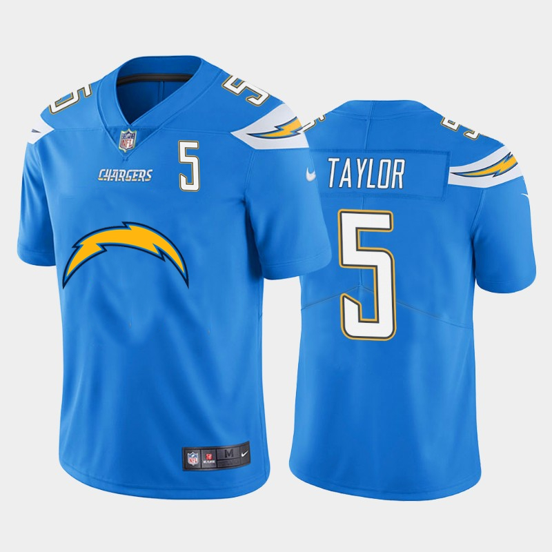 Nike Chargers 5 Tyrod Taylor Blue Team Big Logo Number Vapor Untouchable Limited Jersey