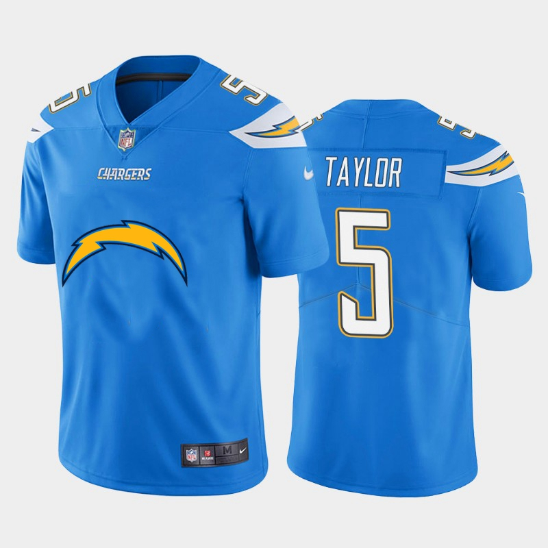 Nike Chargers 5 Tyrod Taylor Blue Team Big Logo Vapor Untouchable Limited Jersey