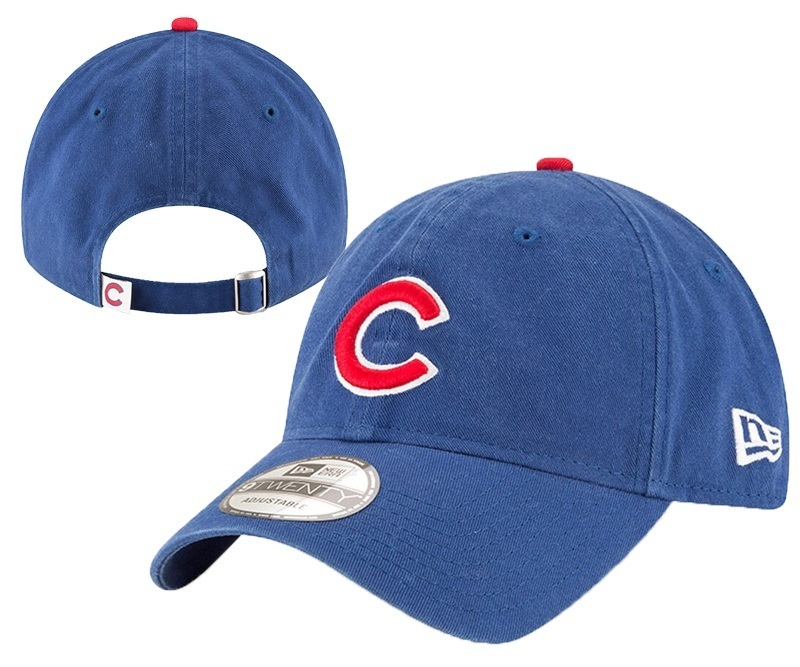 Cubs Team Logo Blue Peaked Adjustable Hat YD