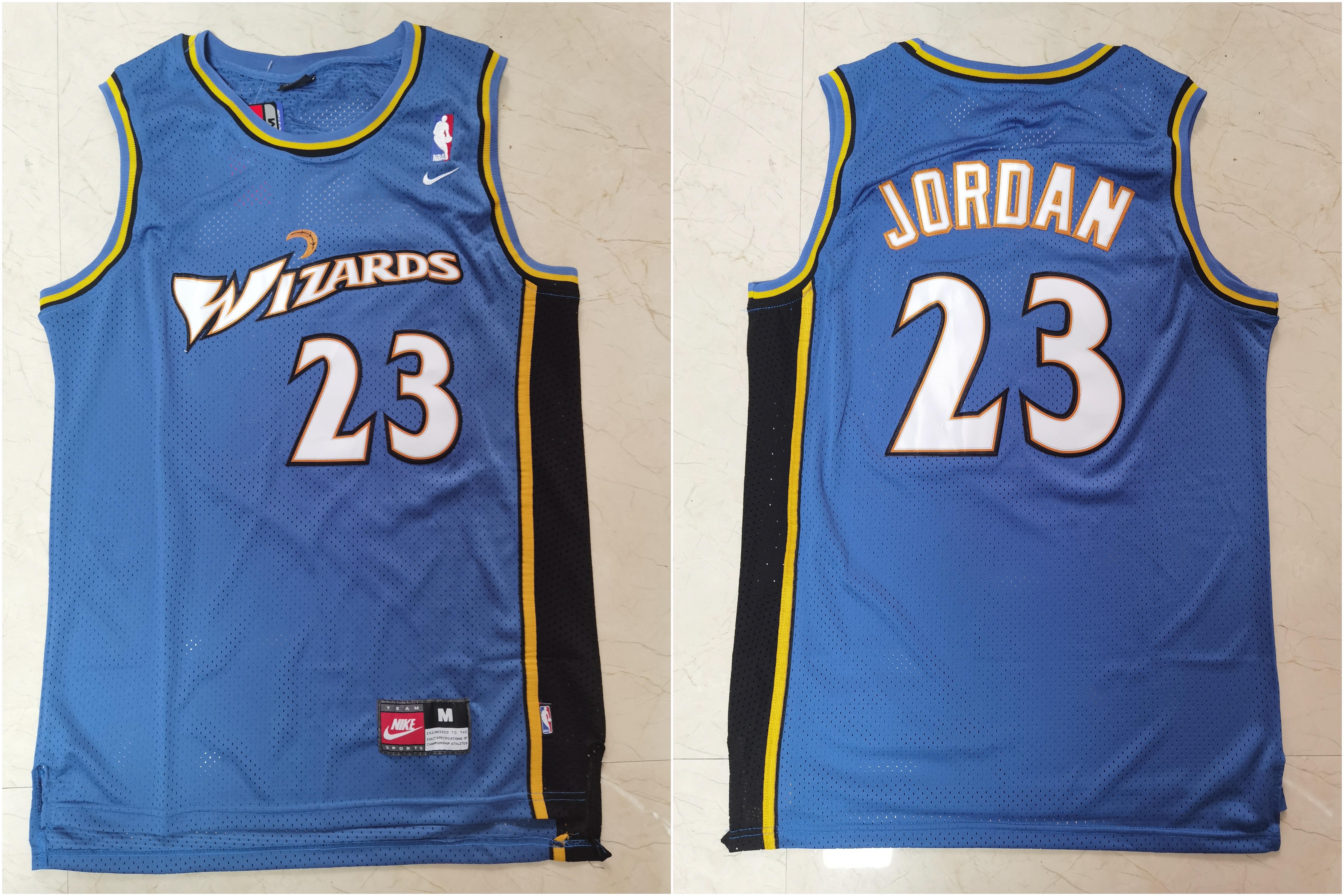 Wizards 23 Michael Jordan Blue Nike Swingman Jersey