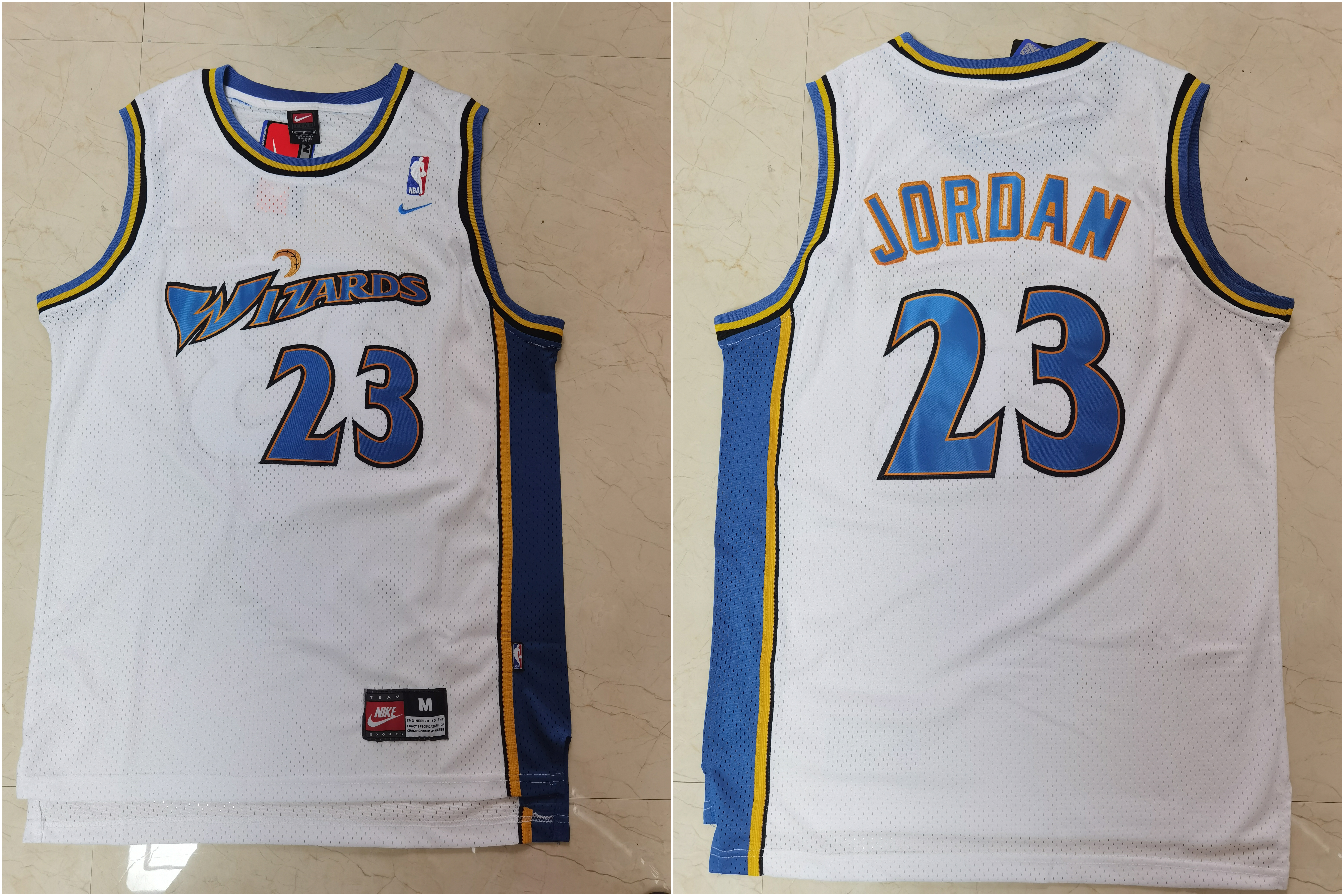 Wizards 23 Michael Jordan White Nike Swingman Jersey
