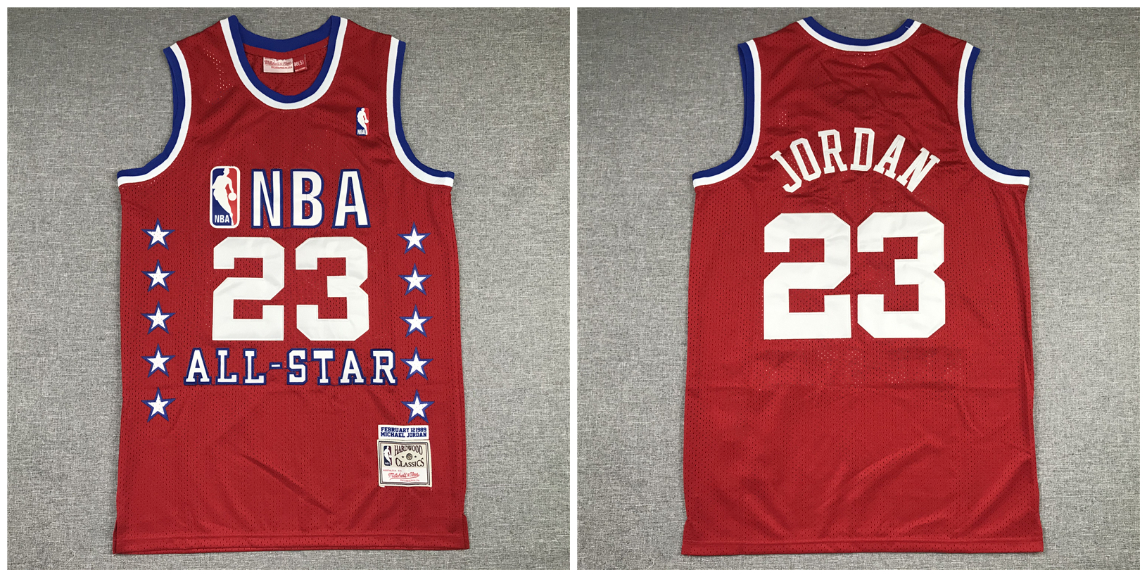 Bulls 23 Michael Jordan Red 1989 All-Star Hardwood Classics Jersey