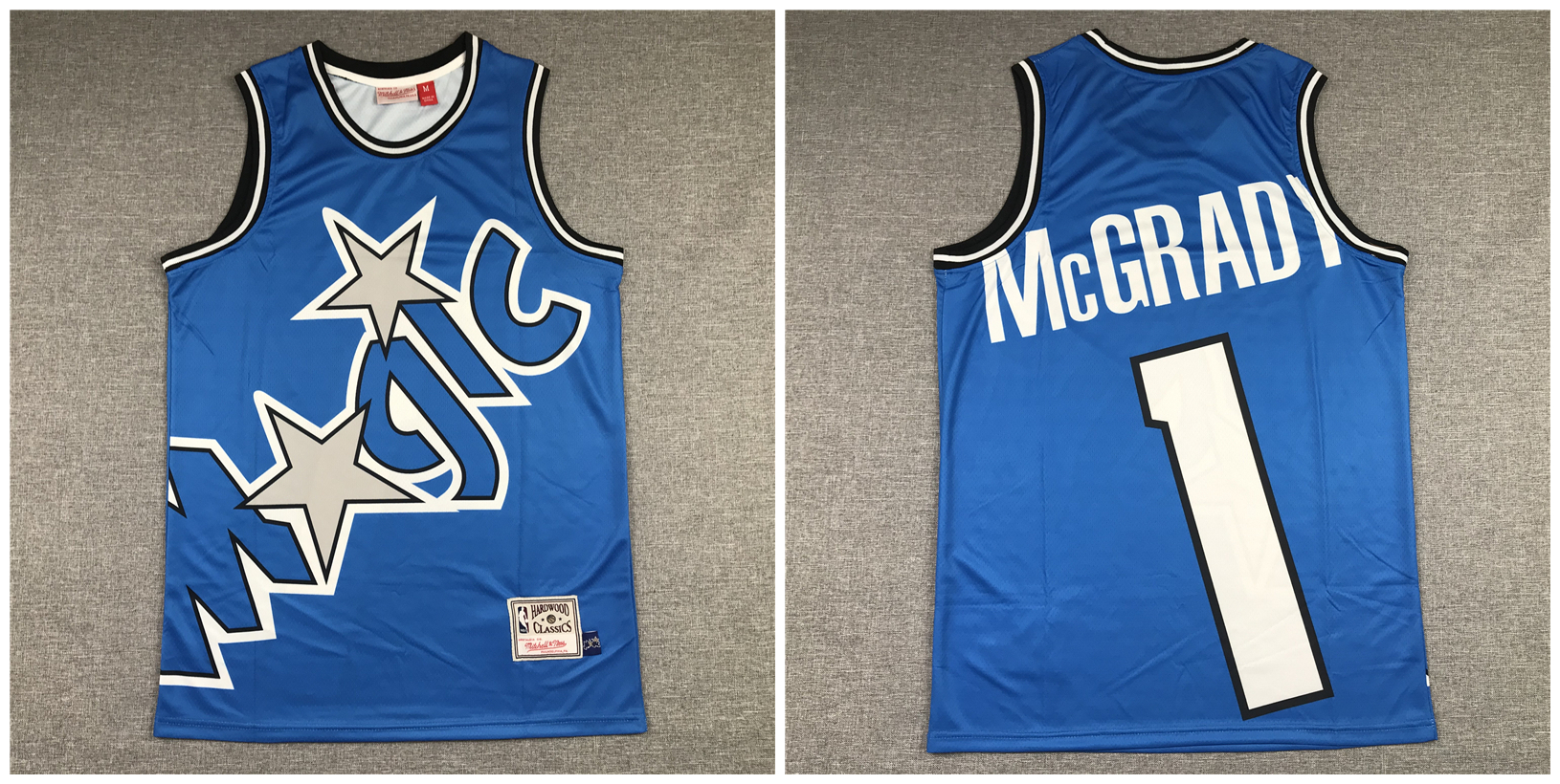 Magic 1 Tracy McGrady Blue Hardwood Classics Jersey