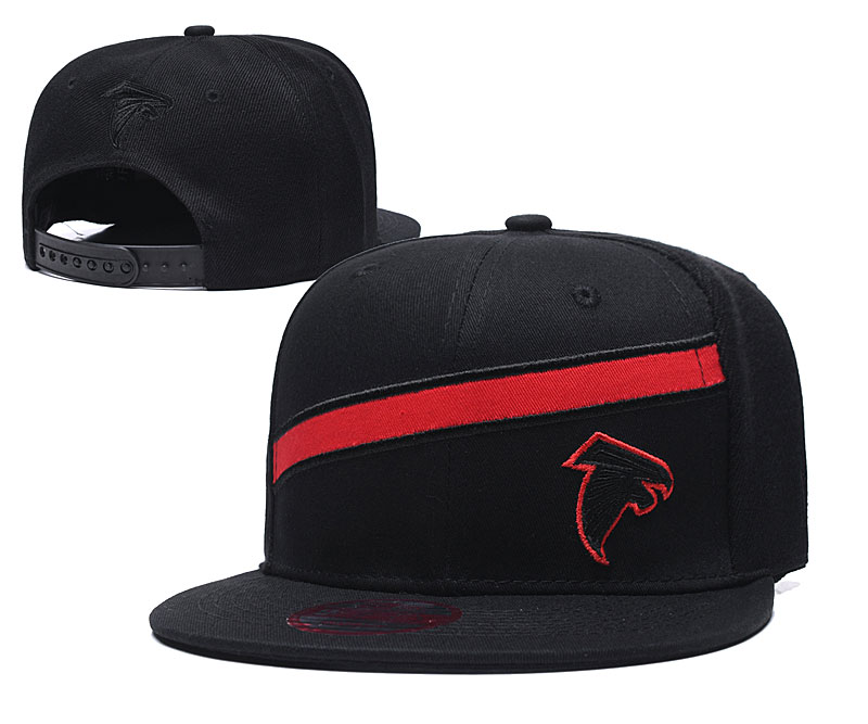 Falcons Team Logo Black Adjustable Hat LT