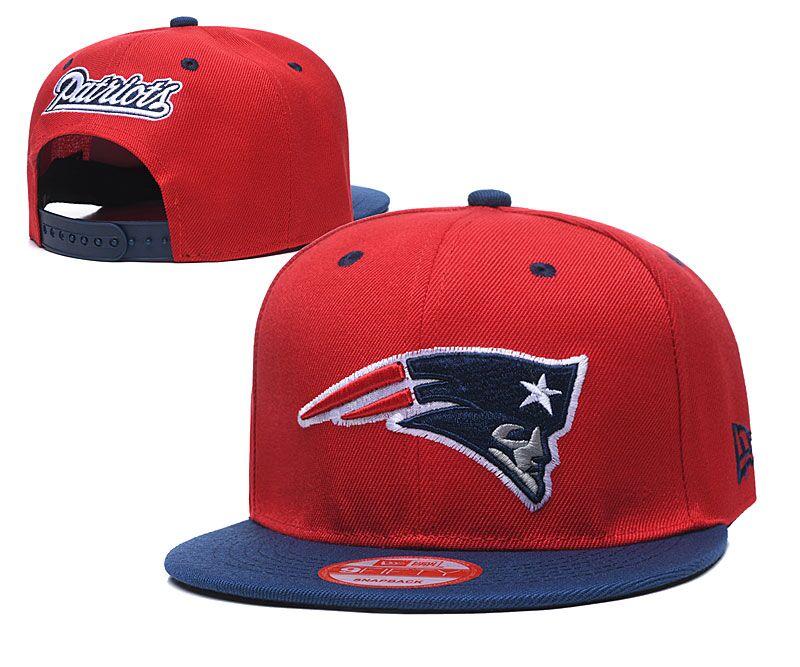 Patriots Team Logo Red Adjustable Hat LT