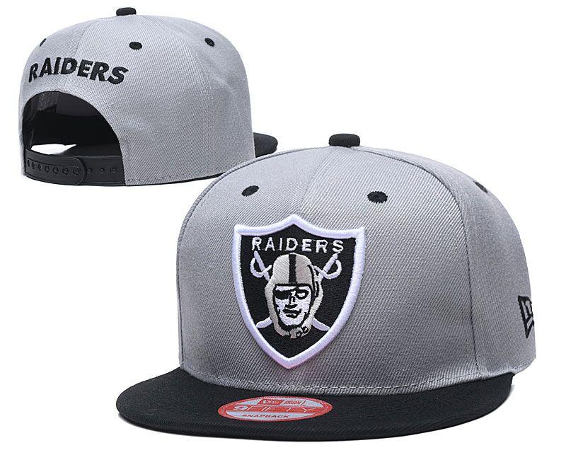 Raiders Team Logo Gray Adjustable Hat LT
