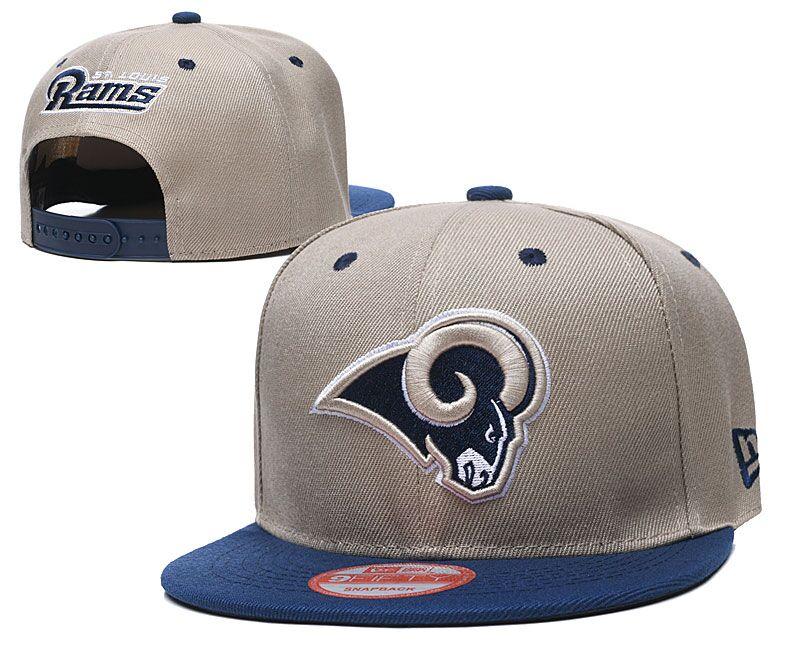 Rams Team Logo Cream Adjustable Hat LT