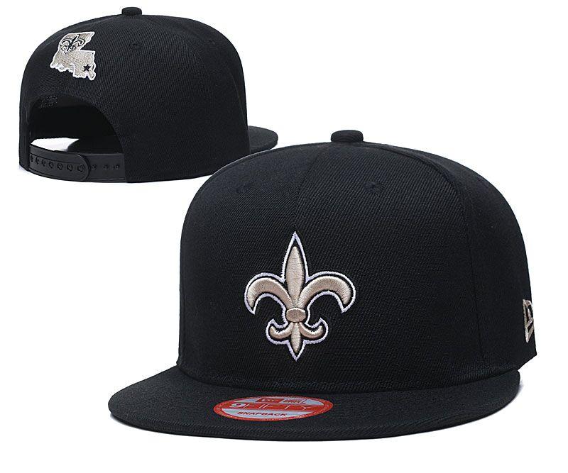 Saints Fresh Logo Black Adjustable Hat LT
