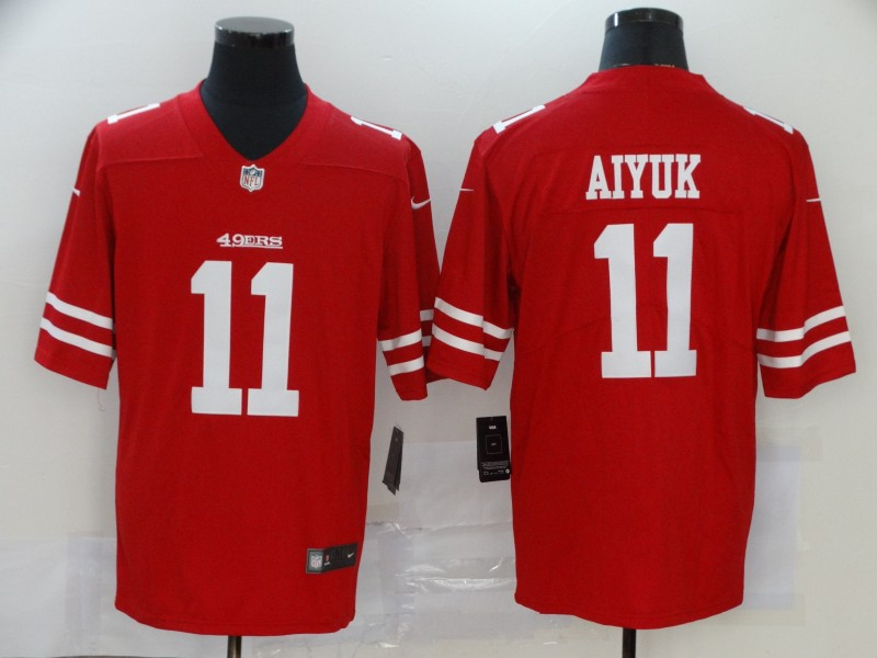 Nike 49ers 11 Brandon Aiyuk Red 2020 NFL Draft First Round Pick Vapor Untouchable Limited Jersey