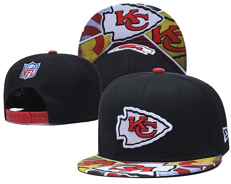 Chiefs Team Logo Black Adjustable Hat LH