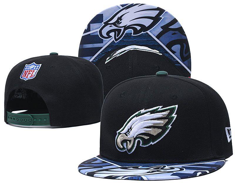 Eagles Team Logo Black Adjustable Hat LH