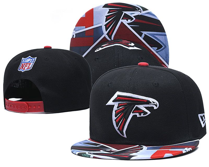 Falcons Team Logo Black Adjustable Hat LH