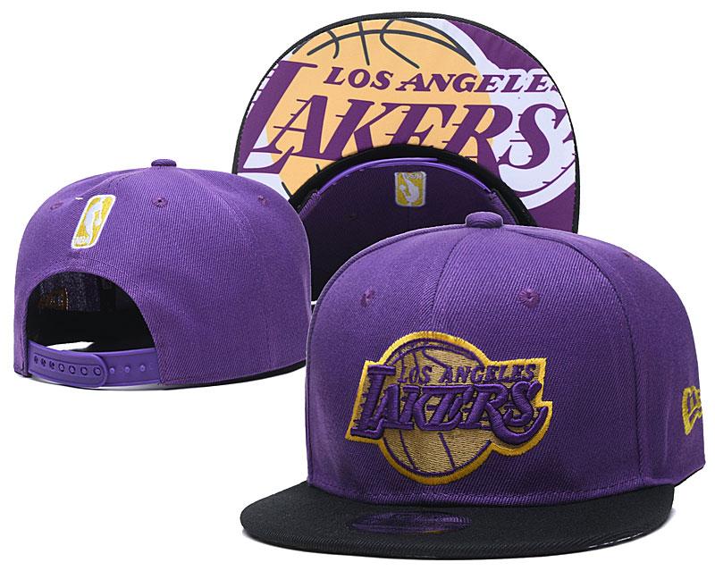 Lakers Team Logo Purple Adjustable Hat TX