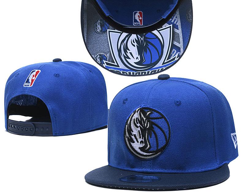 Mavericks Team Logo Blue Navy Adjustable Hat TX