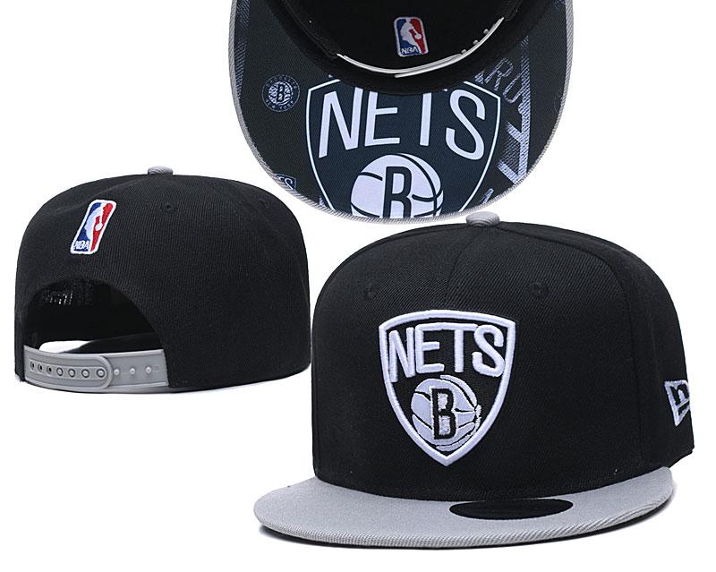 Nets Team Logo Black Adjustable Hat TX