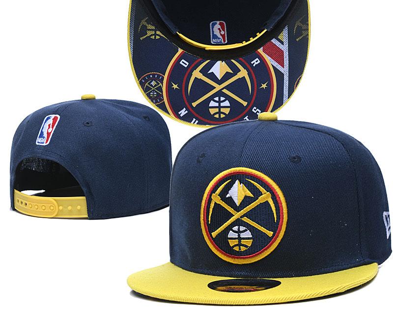 Nuggets Team Logo Navy Yellow Adjustable Hat TX