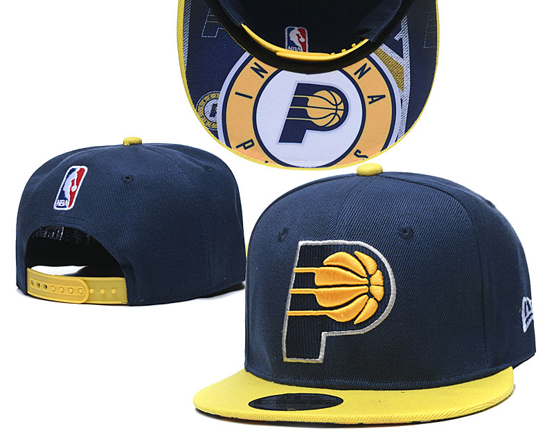 Pacers Team Logo Navy Yellow Adjustable Hat TX
