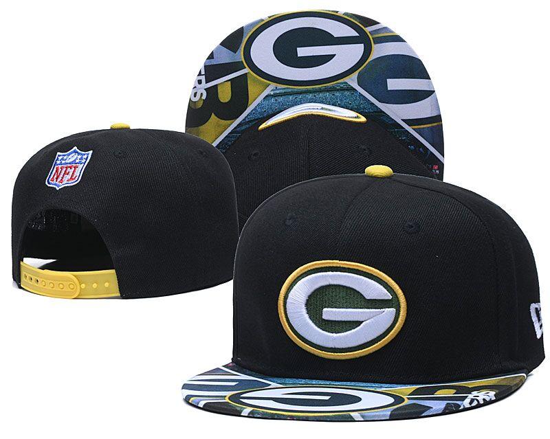 Packers Team Logo Black Adjustable Hat LH