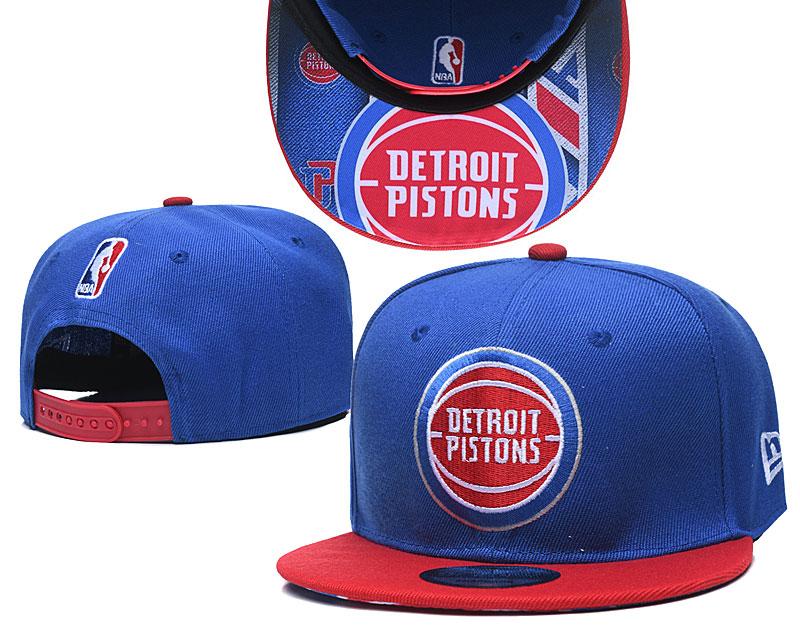 Pistons Team Logo Blue Red Adjustable Hat TX