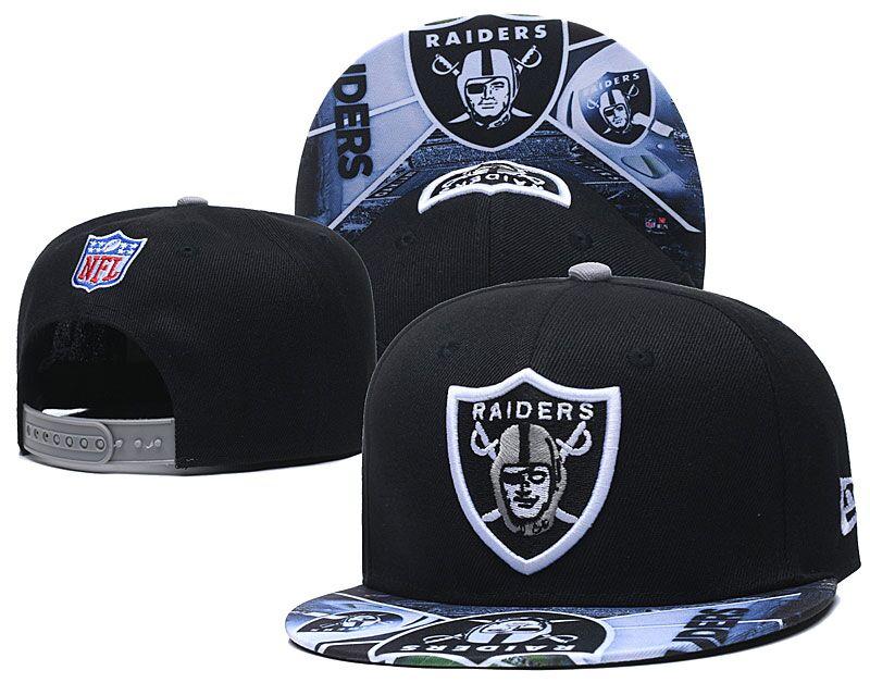 Raiders Team Logo Black Adjustable Hat LH