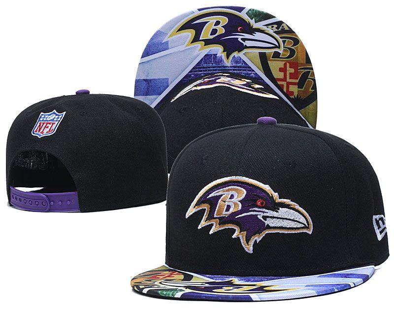 Ravens Team Logo Black Adjustable Hat LH