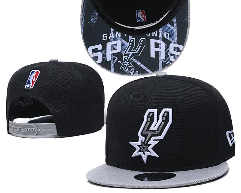 Spurs Team Logo Black Adjustable Hat TX