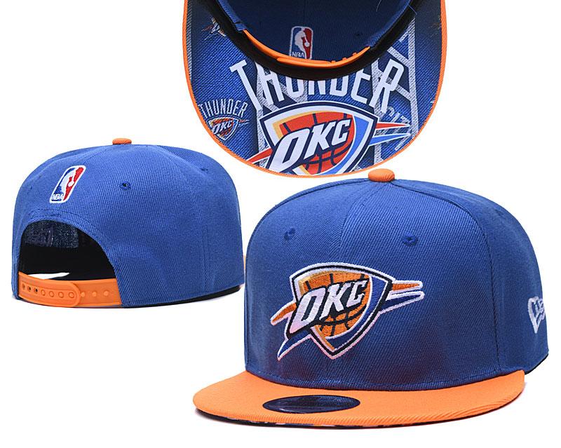Thunder Team Logo Blue Orange Adjustable Hat TX