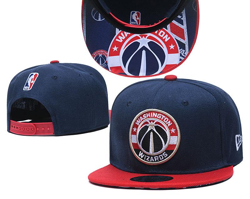 Wizards Team Logo Navy Red Adjustable Hat TX