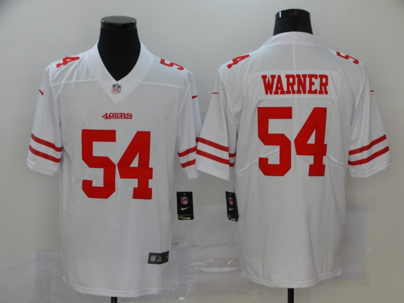 Nike 49ers 54 Fred Warner White Vapor Untouchable Limited Jersey