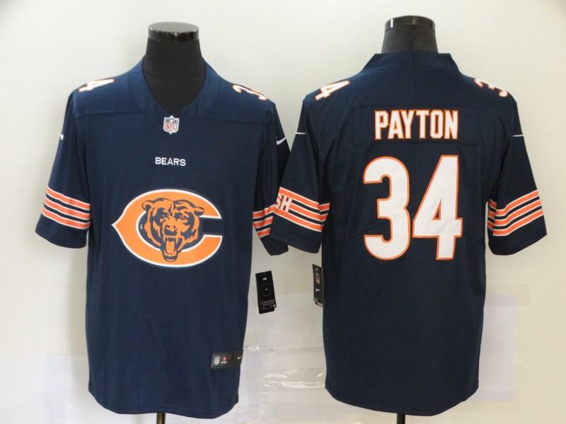 Nike Bears 34 Walter Payton Navy Team Big Logo Vapor Untouchable Limited Jersey