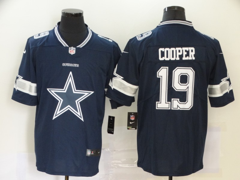 Nike Cowboys 19 Amari Cooper Navy Team Big Logo Vapor Untouchable Limited Jersey