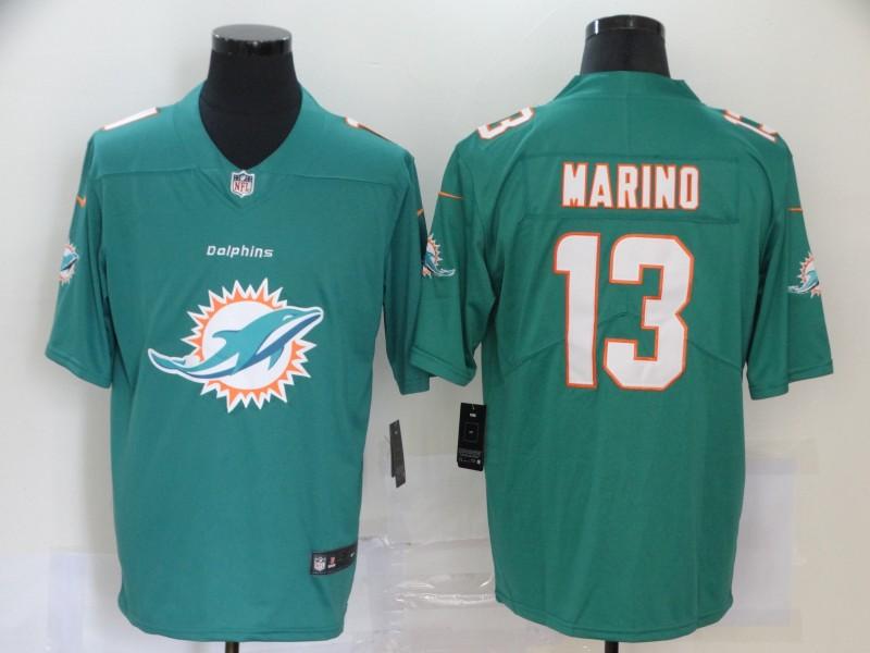 Nike Dolphins 13 Dan Marino Aqua Team Big Logo Vapor Untouchable Limited Jersey