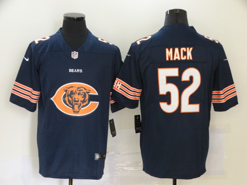 Nike Bears 52 Khalil Mack Navy Team Big Logo Vapor Untouchable Limited Jersey
