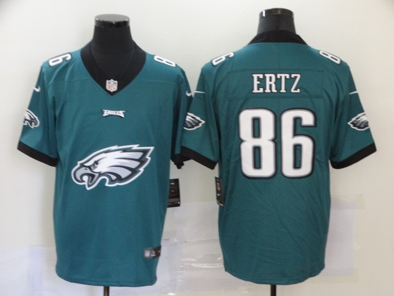 Nike Eagles 86 Zach Ertz Green Team Big Logo Vapor Untouchable Limited Jersey