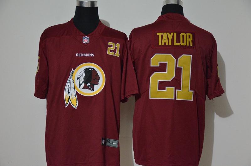 Nike Redskins 21 Sean Taylor Red Team Big Logo Number Vapor Untouchable Limited Jersey