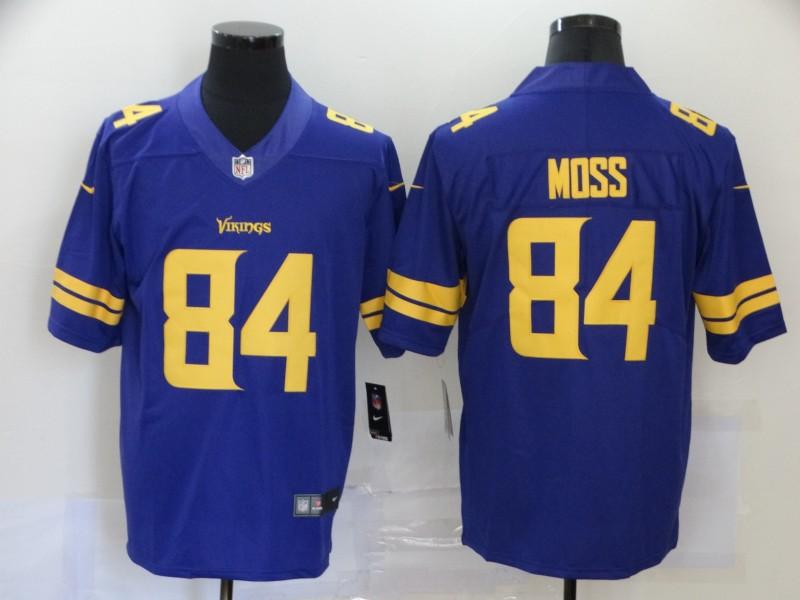Nike Vikings 84 Randy Moss Purple Color Rush Limited Jersey