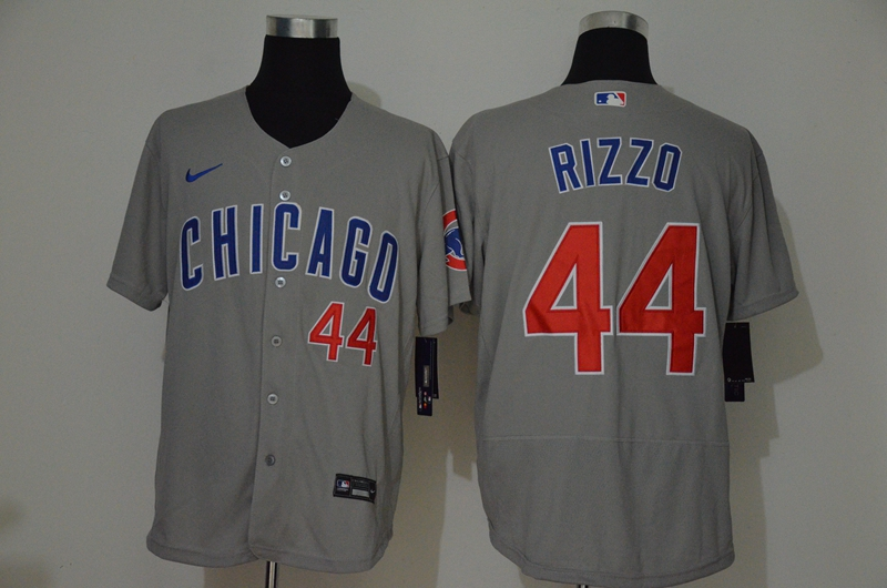 Cubs 44 Anthony Rizzo Gray 2020 Nike Flexbase Jersey