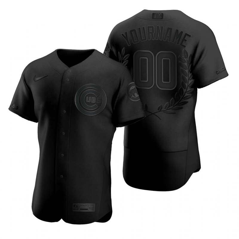 Cubs Customized Black Nike Flexbase Fashion Jersey