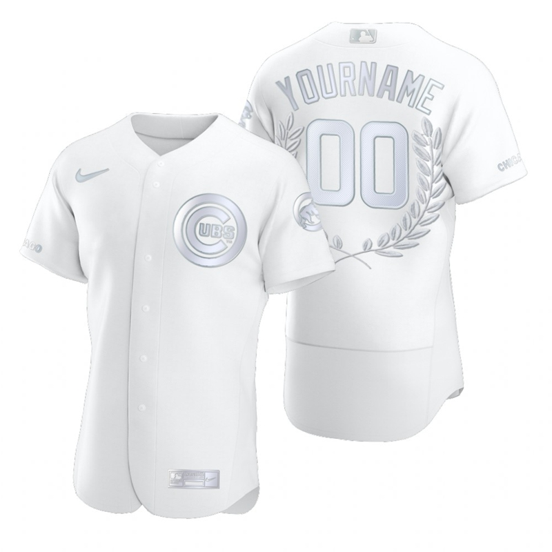 Cubs Customized White Nike Flexbase Fashion Jersey