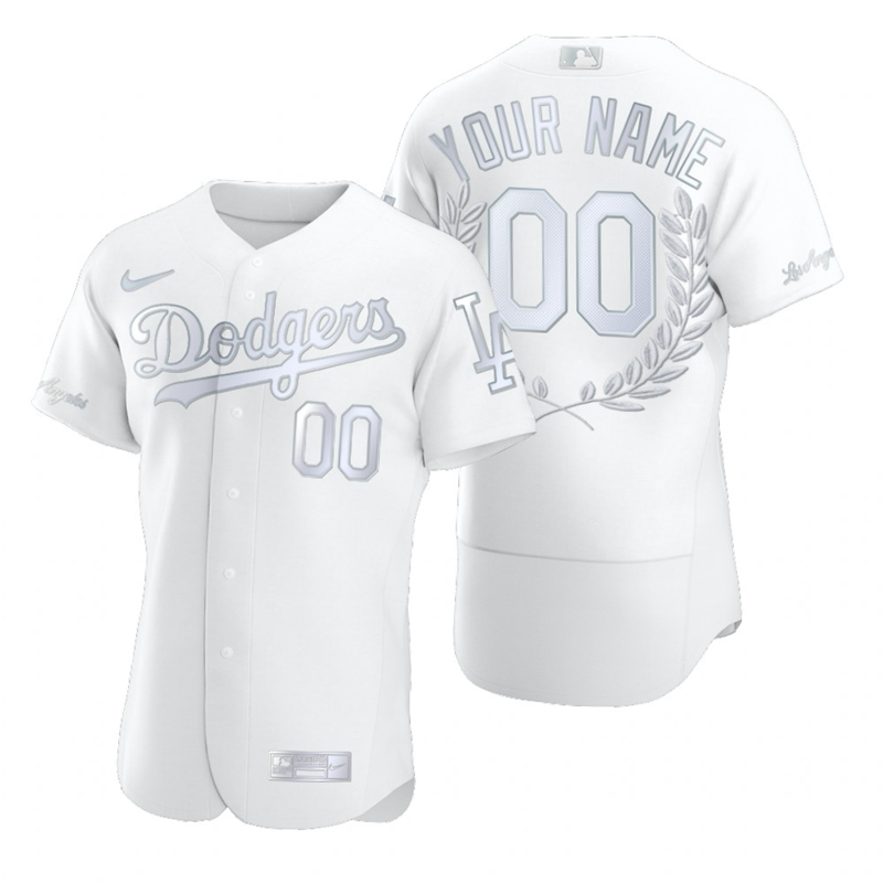Dodgers Customized White Nike Flexbase Fashion Jersey