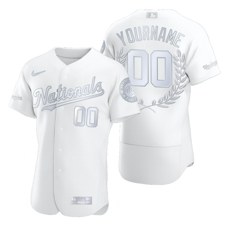 Nationals Customized White Nike Flexbase Fashion Jersey