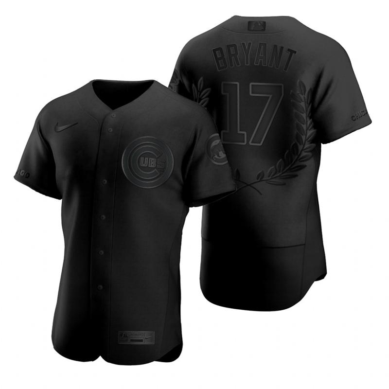 Cubs 17 Kris Bryant Black Nike Flexbase Fashion Jersey