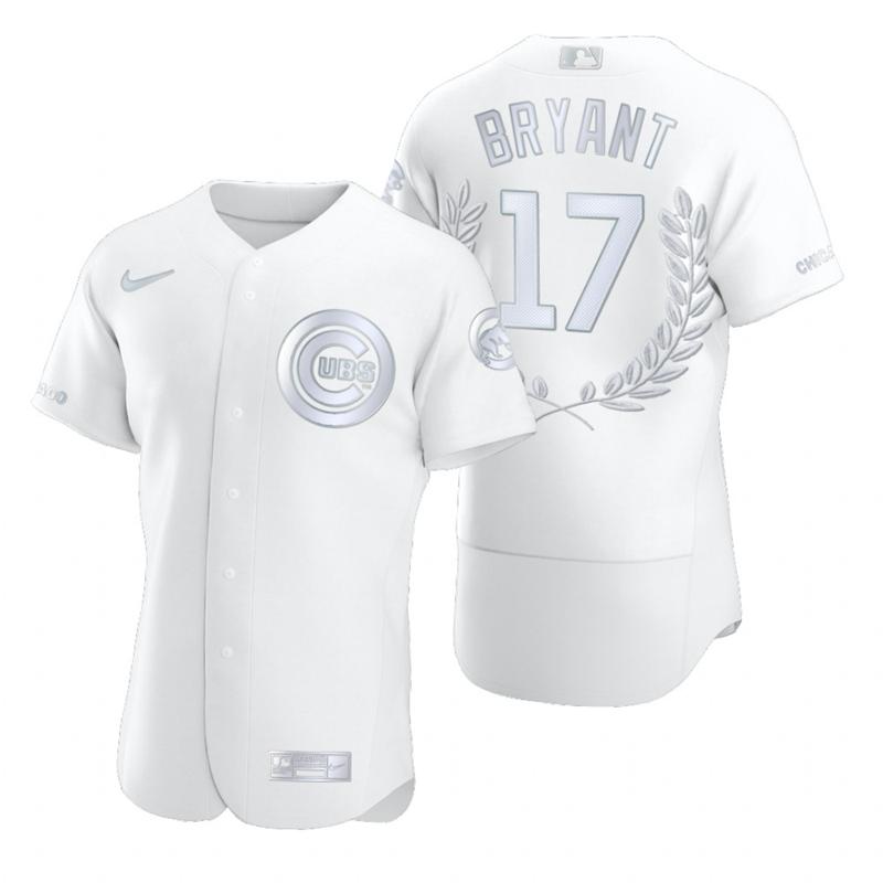 Cubs 17 Kris Bryant White Nike Flexbase Fashion Jersey