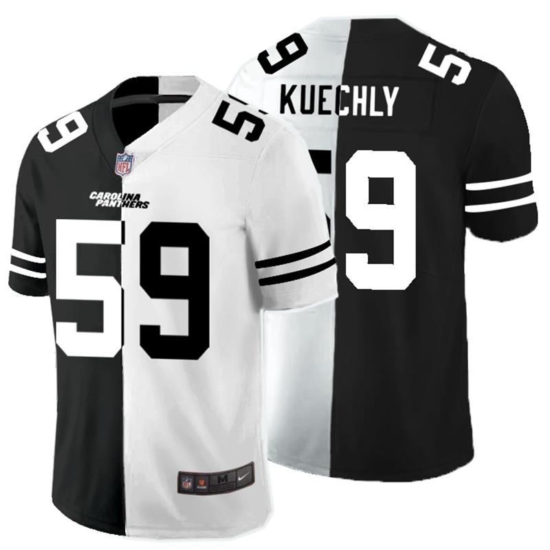 Nike Panthers 59 Luke Kuechly Black And White Split Vapor Untouchable Limited Jersey