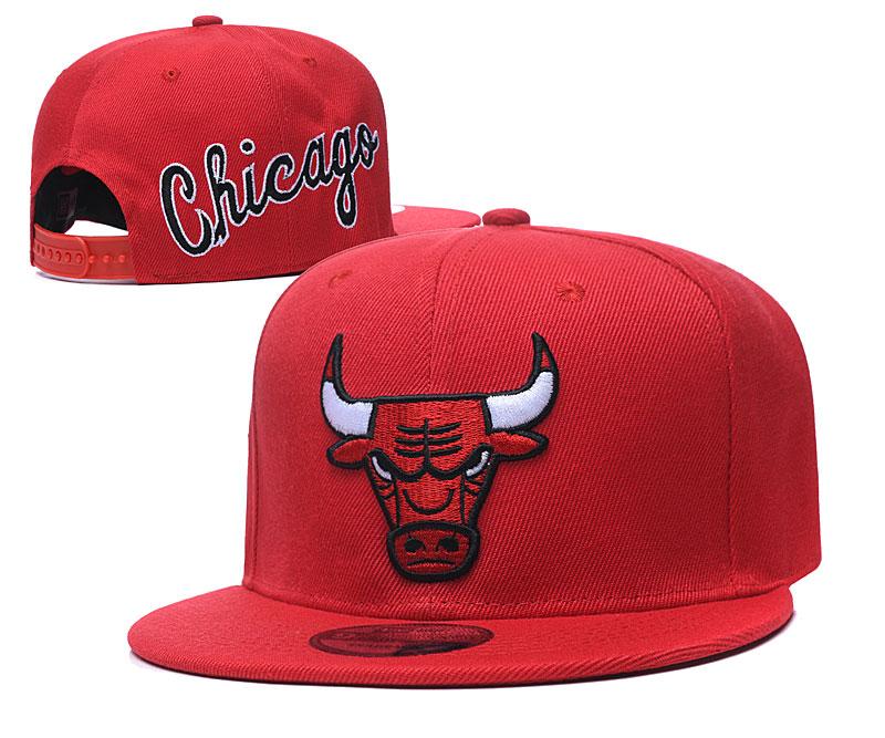 Bulls Fresh Logo Red Adjustable Hat GS
