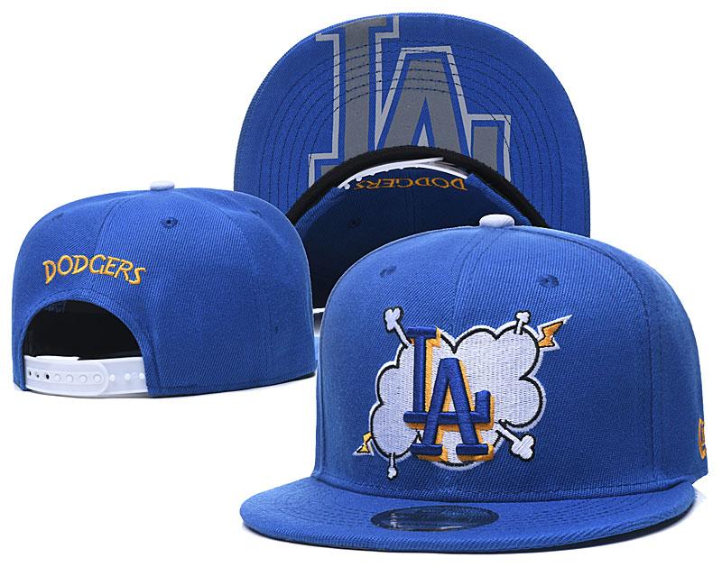 Dodgers Team Logo Royal Adjustable Hat GS