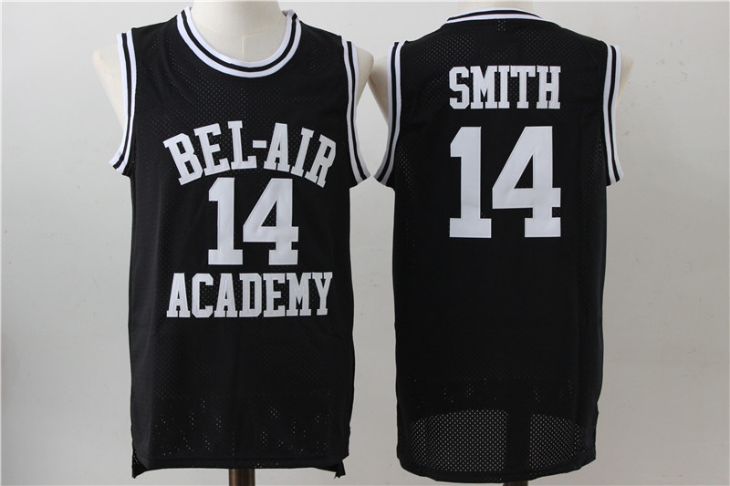 Bel-Air Academy 14 Will Smith Black Stitched Movie Jersey