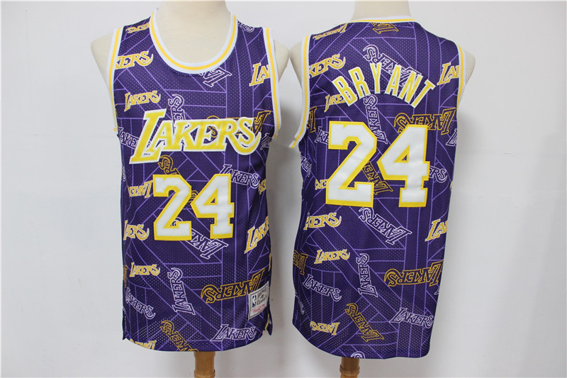 Lakers 24 Kobe Bryant Purple Tear Up Pack Hardwood Classics Swingman Jersey