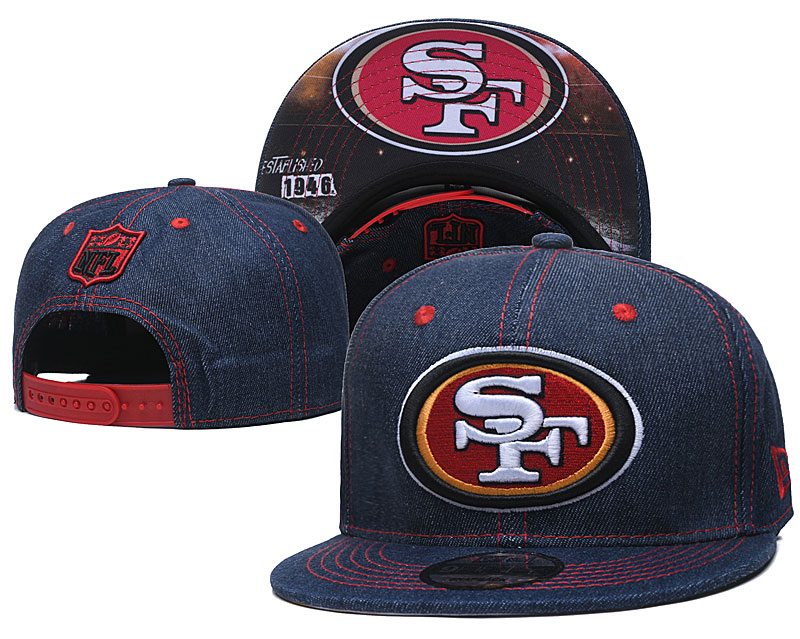 49ers Team Logo Navy Established Adjustable Hat YD