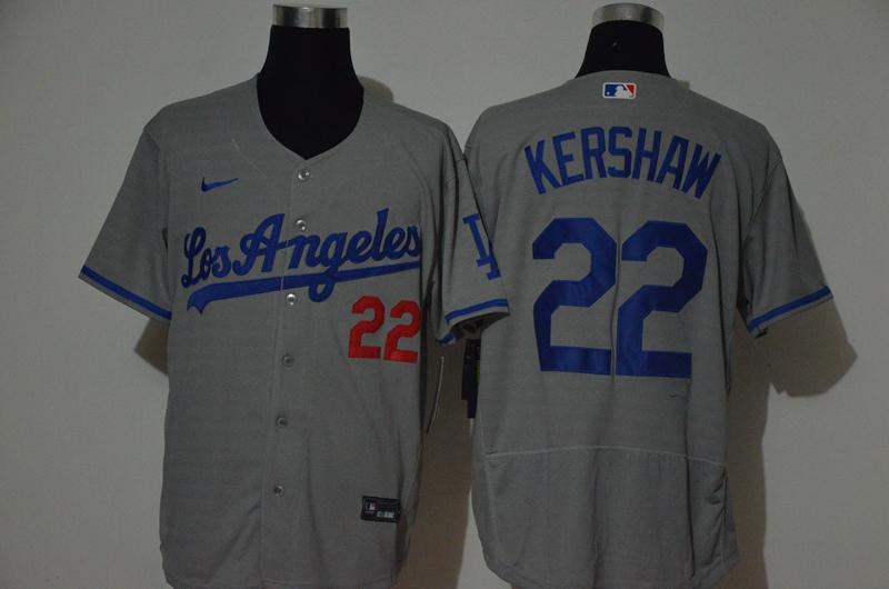 Dodgers 22 Clayton Kershaw Gray 2020 Nike Flexbase Jersey